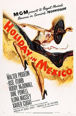 Holiday In Mexico, Poster Art, 1946 Poster by Everett