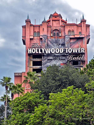 Hollywood Tower Hotel Walt Disney World Poster by Thomas Woolworth