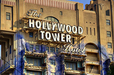 Hollywood Tower Poster by Ricky Barnard