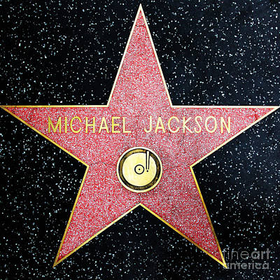 Hollywood Walk Of Fame Michael Jackson 5d28974 Poster by Wingsdomain Art and Photography