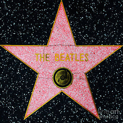 Hollywood Walk Of Fame The Beatles 5d28922 Poster by Wingsdomain Art and Photography