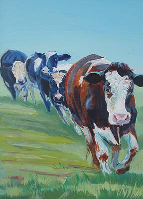 Holstein Friesian Cows Poster by Mike Jory