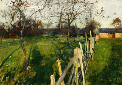 Home Fields Poster by John Singer Sargent