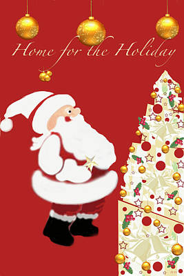 Home For The Holiday Poster by Debra     Vatalaro