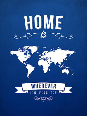 Home - Ice Blue Poster by Aged Pixel