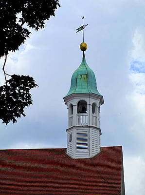 Home Moravian Church Steeple Poster by Randall Weidner