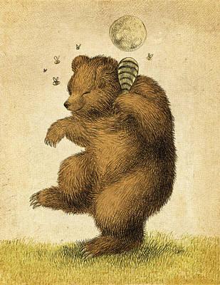 Honey Bear Poster by Eric Fan
