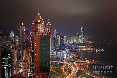 Hong Kong Island Poster by Lars Ruecker