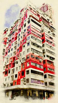 Hong Kong Streets 4 Poster by Yury Malkov