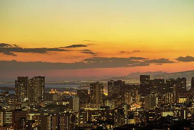 Honolulu Skyline Poster by Babak Tafreshi