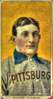 Honus Wagner Card Poster by Tommy Anderson