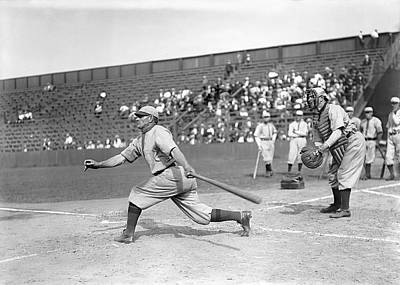 Honus Wagner Swings Hard Poster by Retro Images Archive