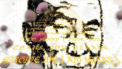 Ho'oponopono Prayer Dali Lama Poster by Deprise Brescia