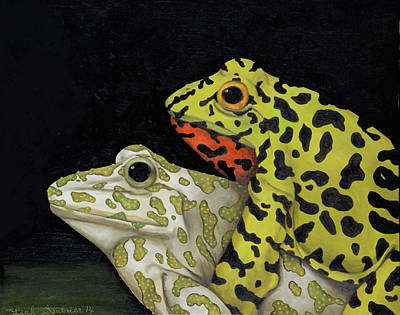 Horny Toads 3 Poster by Leah Saulnier The Painting Maniac