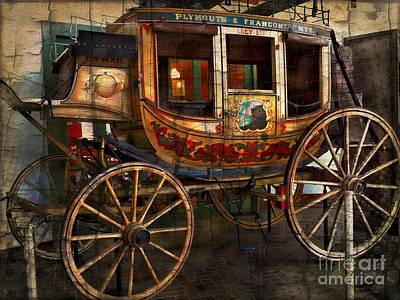 Horse Driven Stagecoach Poster by Marcia Lee Jones