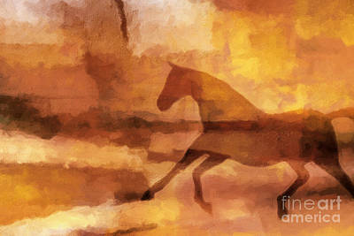 Horse Image Poster by Lutz Baar