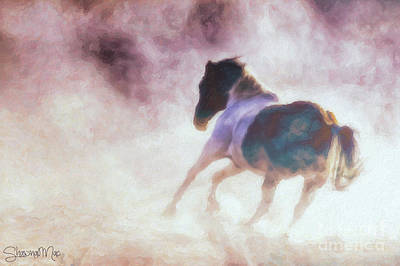 Horse In Impasto Poster by Shawna Mac