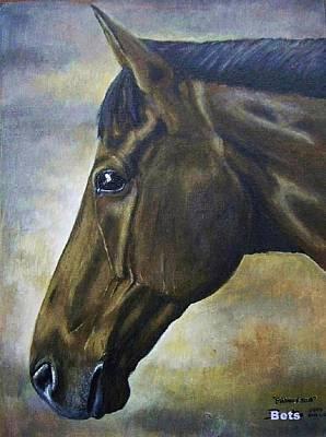 Horse Portrait Princeton Poster by Bets Klieger