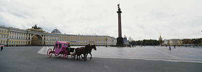 Horsedrawn Carriage In Front Poster by Panoramic Images