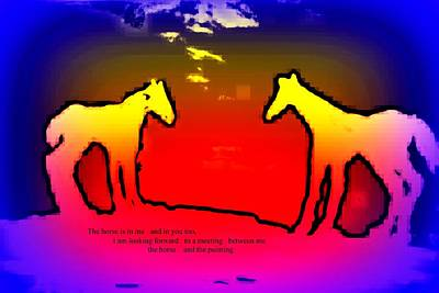 Feel The Horses Inside Of Us And The Space Outside  Poster by Hilde Widerberg