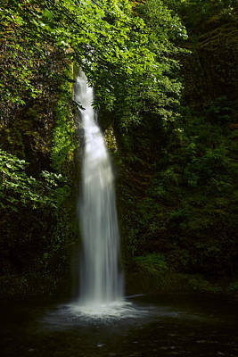 Horsetail Falls In Summer Poster by Vishwanath Bhat