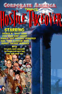 Hostile Takeover Poster by James Gallagher
