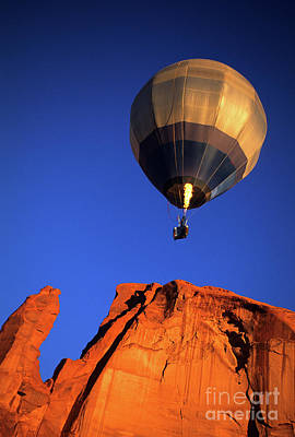Hot Air Balloon Monument Valley 1 Poster by Bob Christopher
