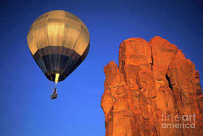 Hot Air Balloon Monument Valley 4 Poster by Bob Christopher