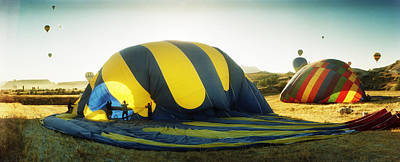Hot Air Balloon Being Deflated Poster by Panoramic Images