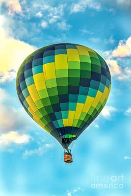 Hot Air Balloon Checkerboard Poster by Robert Bales