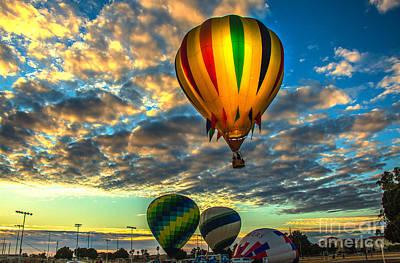 Hot Air Balloon Lift Off Poster by Robert Bales