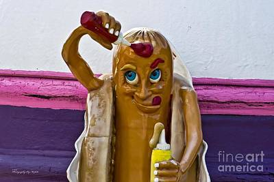 Hot Dog Dressing Up Poster by Ms Judi