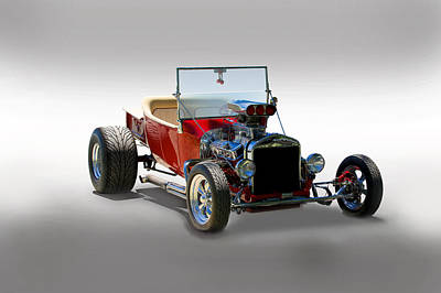 Hot Rod Bucket T Poster by Dave Koontz