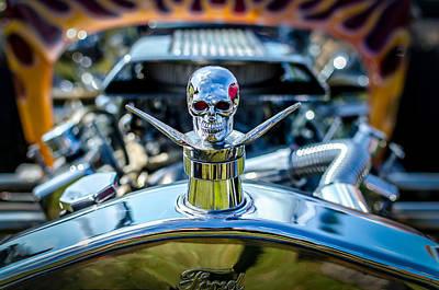 Hotrod Skull Poster by David Morefield