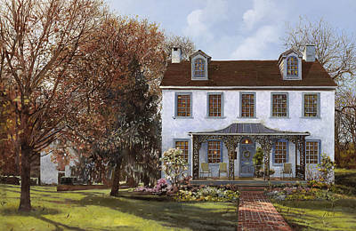 house Du Portail  Poster by Guido Borelli