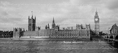 House Of Parliament With Letter Poster by Heidi Hermes