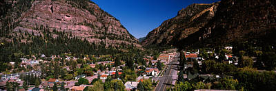 Houses In A Town, Ouray, Ouray County Poster by Panoramic Images