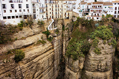 Houses On A Rock In Ronda Poster by Artur Bogacki