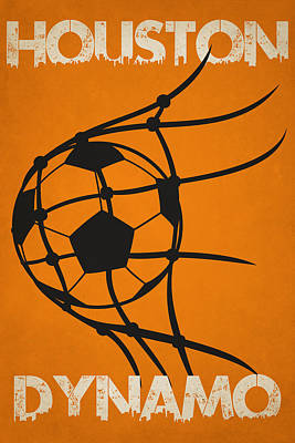 Houston Dynamo Goal Poster by Joe Hamilton