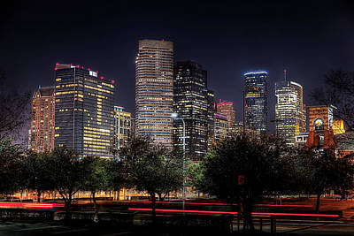 Houston From The East Side Poster by Tim Stanley