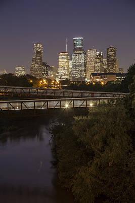 Houston Sunset And Crosswalk Poster by John McGraw