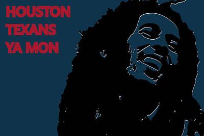 Houston Texans Ya Mon Poster by Joe Hamilton