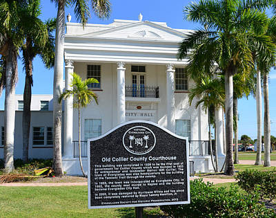 Collier County Courthouse Circa 1928 Poster by David Lee Thompson
