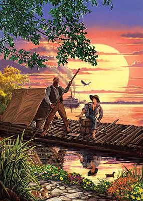 Huck Finn Variant 1 Poster by Steve Crisp