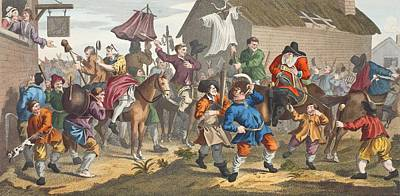 Hudibras Encounters The Skimmington Poster by William Hogarth