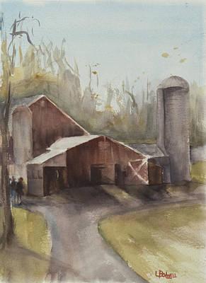 Hudson Valley Farm Poster by Lynne Bolwell