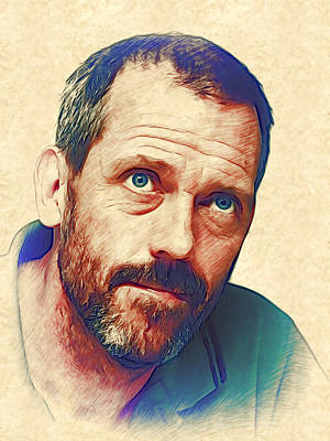 Hugh Laurie Poster by Marina Likholat