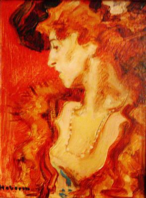 Hugo Von Habermann Rote Dame Poster by MotionAge Designs