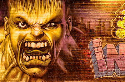 Hulk Graffiti In The Bronx New York City Poster by Sabine Jacobs