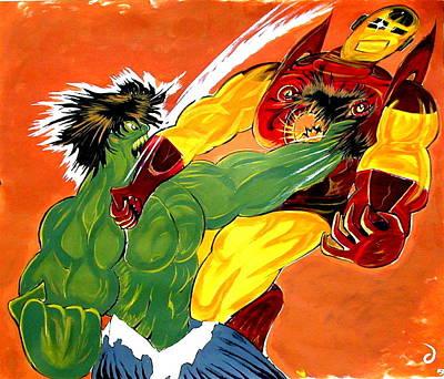 Hulk Vs Iron Man  Poster by Jazzboy